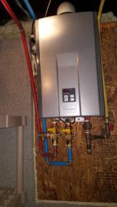 Rinnai Tankless Wat4er heater Installation